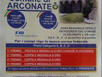ARCOANTE :il gruppo bocciofilo arconatese, prenta il 2°trofeo comune di Arconate