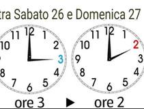 Arriva L'ora Solare: lancette indietro di un'ora.