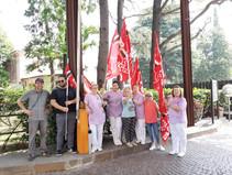 Filcams CGIL,protesta davanti ai nosocomi di Saronno e Busto Arsizio .