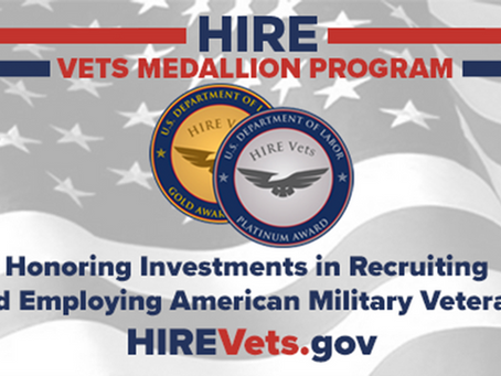 GEBC, LLC Receives 2020 HIRE Vets Medallion Award from U.S. Department of Labor