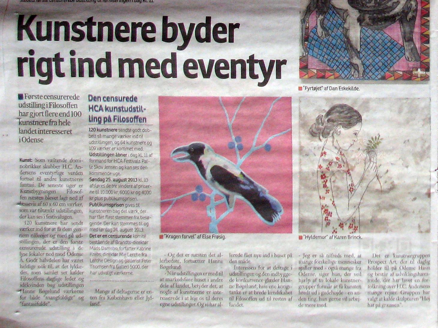 Fyens Stiftstidende 18. aug. 2013