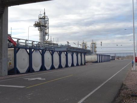 LOGIX S.A. alquila isotanques a Mega Bahía Blanca para suparada de planta