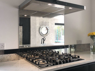 Is antique mirror glass suitable as a splashback?