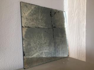 Antique mirror glass splashbacks