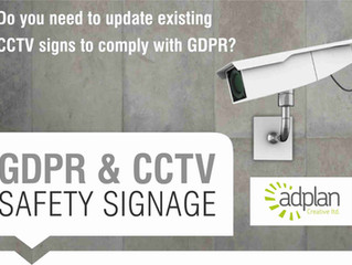 CCTV - GDPR compliance and signage