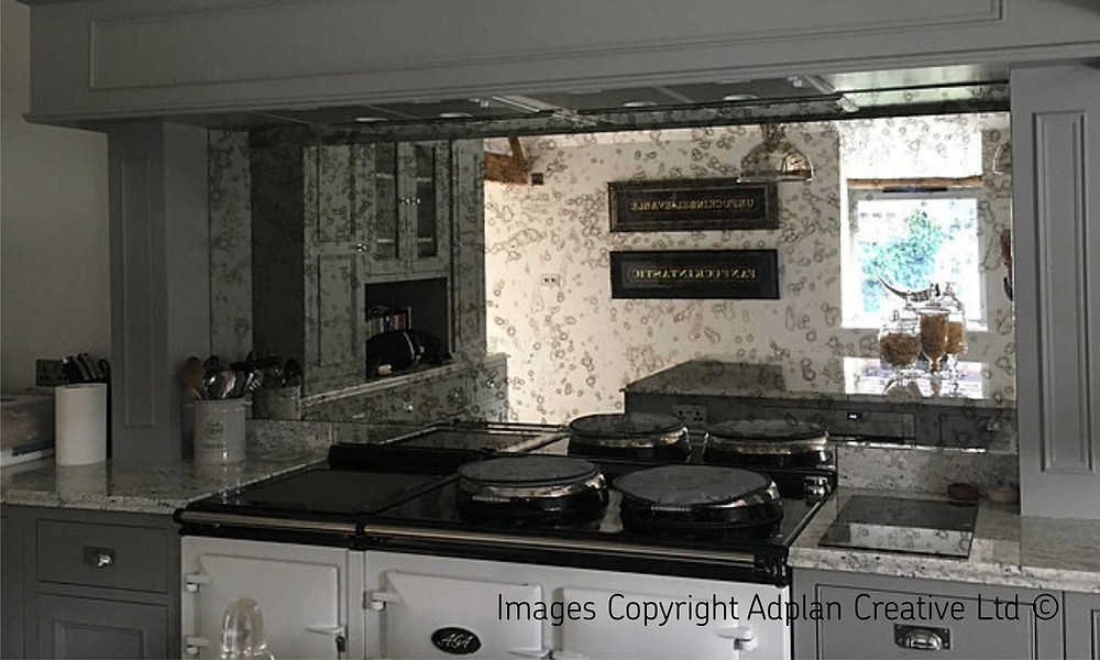 Country Kitchen with Aga Total Control and Antique Mirror Splashback