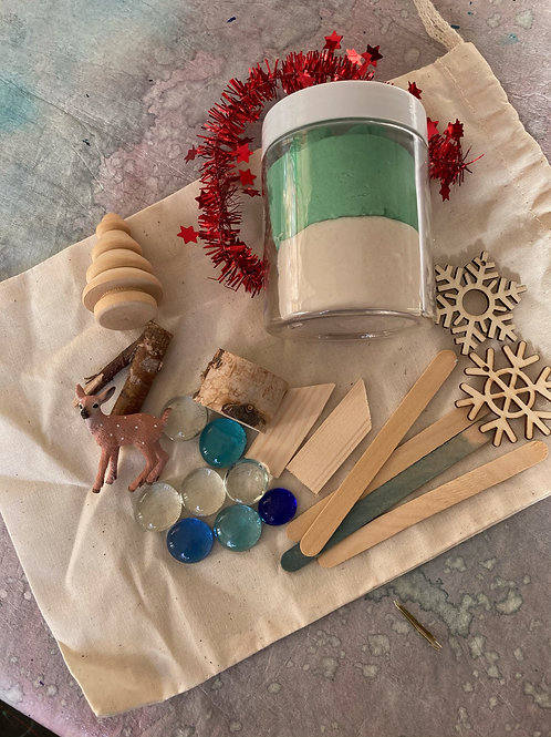 Winter Woodland Playdough Kit