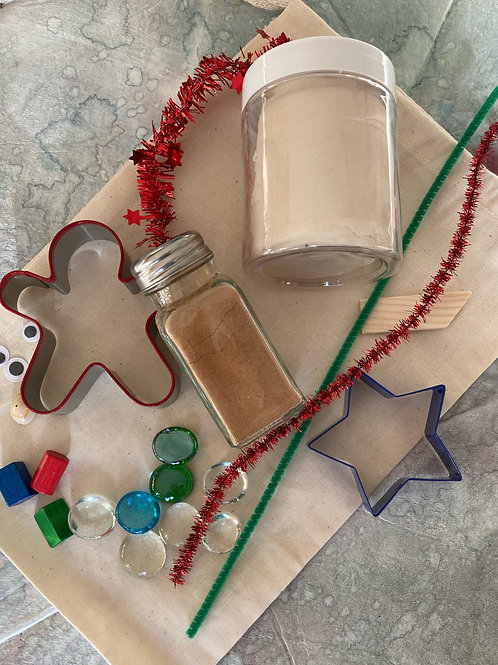Gingerbread Playdough Kit