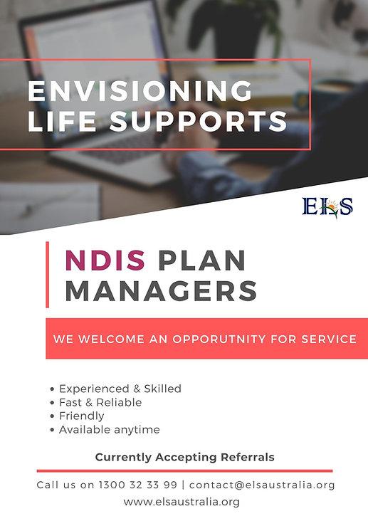 NDIS Plan Manager brochure