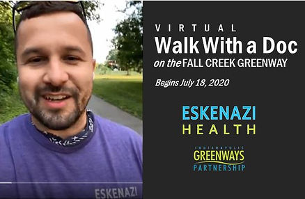 (Virtual) Walk With a Doc on the Fall Creek Greenway