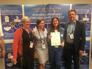 Noor Van Reet wint de Young Ambassador Award