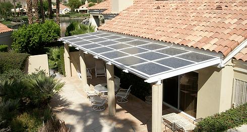 Solar Roof Panel on Porch
