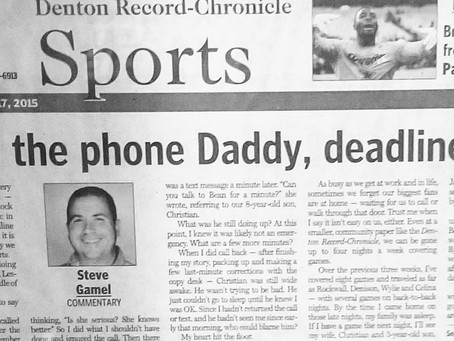 Throwback Thursday: Pick Up The Phone, Daddy, Deadline Or Not