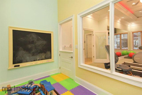 Adjoining play room from fitness center
