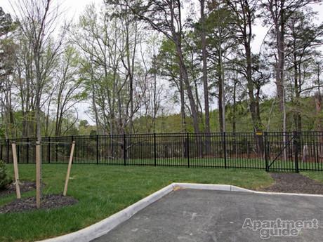 Fenced-in bark park
