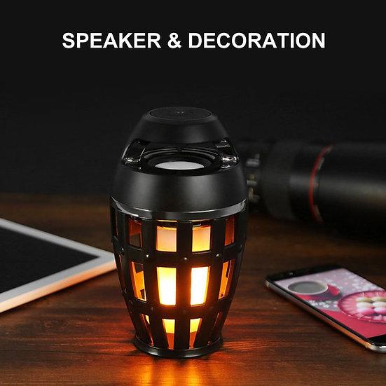Led Flame Speaker Lamp Torch Atmosphere Wireless Speaker