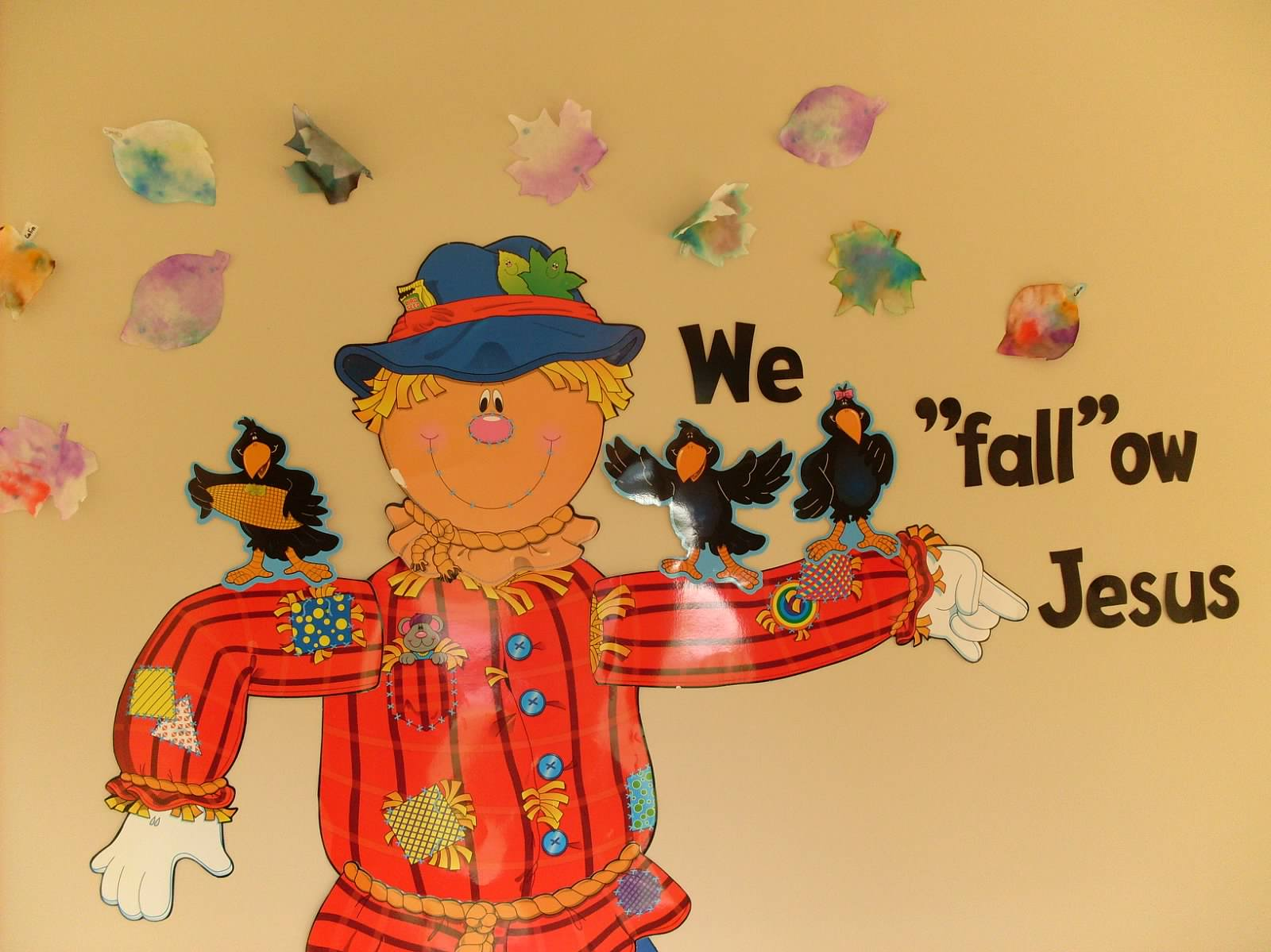 Fall Display of 3's Class Names