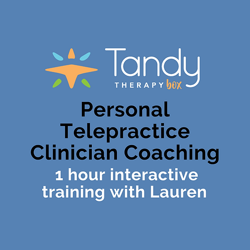 Personal Telepractice Clinician Coaching