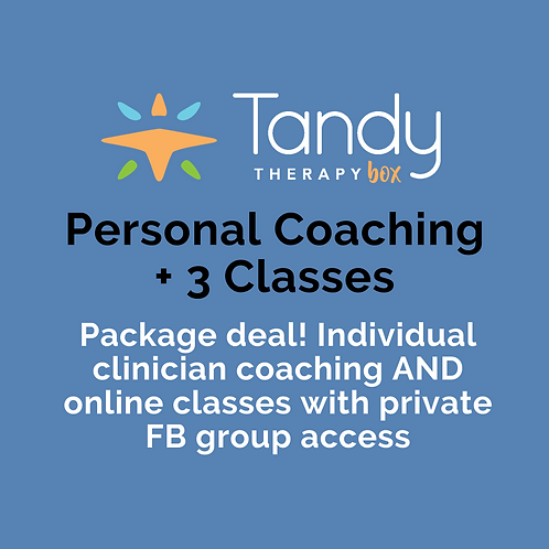 Personal Interactive Coaching + Telepractice Classes