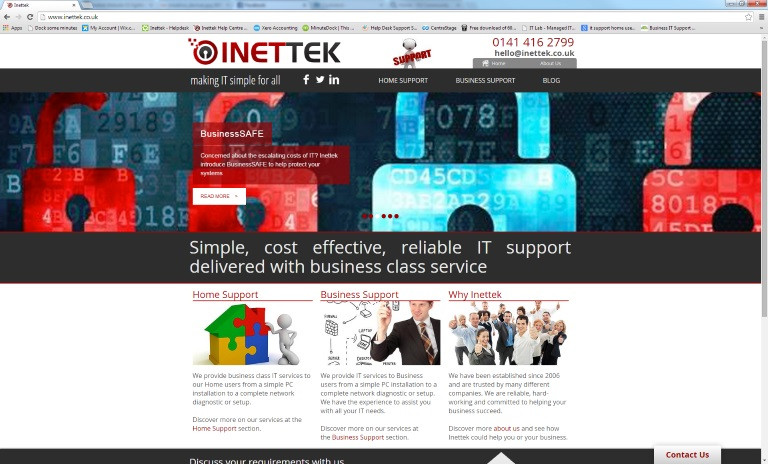 Inettek Website - Just Launched