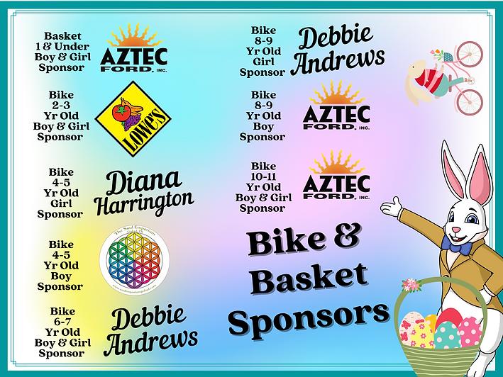 Bike and Basket Sponsors