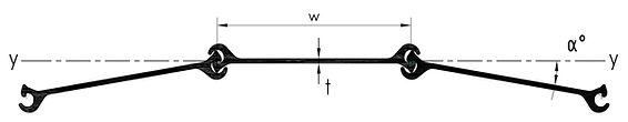 Straight web sheet pile profile