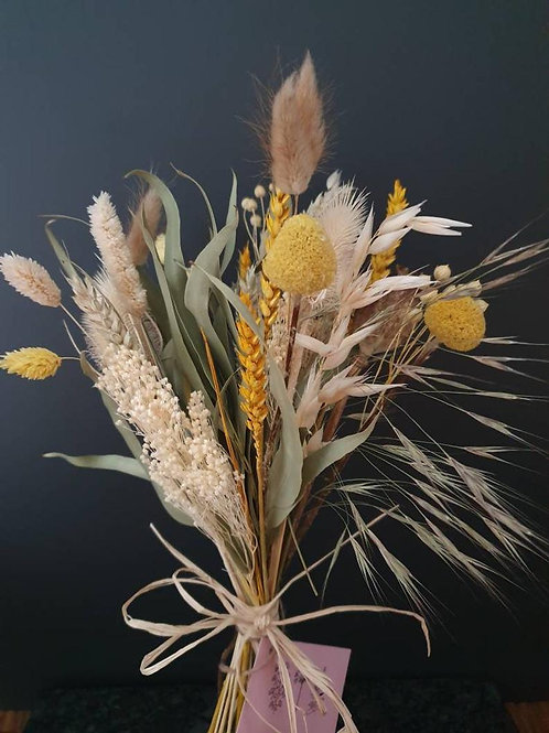 """Mellow Yellow"" Dried Flower Bunch"