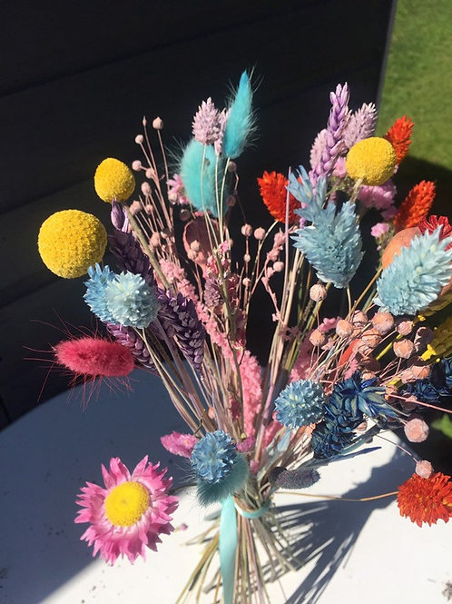 """""""Paradise"""" - Bright Colourful Dried Bunch of Stems and Grasses."""