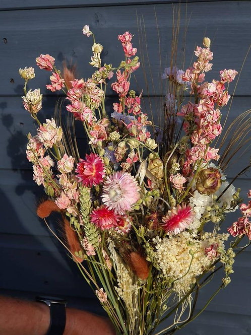 """Pretty in Pink"" Dried Flower Bunch"