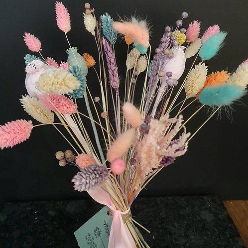 """Serenity"" Soft Pastel Dried Flower Bunch"