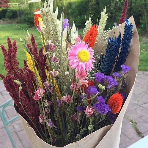 Bunch of Rainbow Flowers