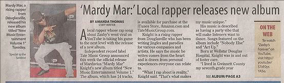 Mardymar press release