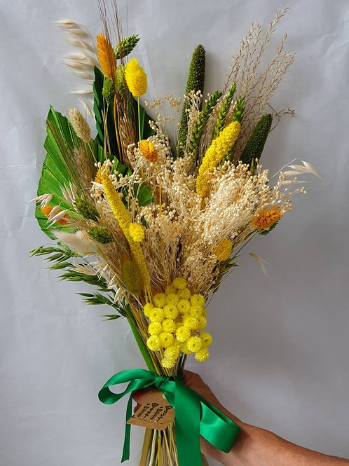 """Lemon & Lime"" Dried Flower Bunch"