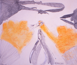 "Bonnie CS, 15""x16"", Pencil and Pastel"