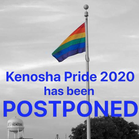 Kenosha Pride 2020 Postponed due to COVID-19