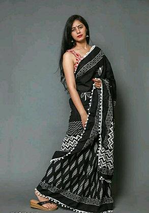 Desginer Mulmul Cotton Attractive Women's Sarees