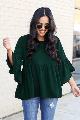 Green Color Rayon Top For Girl's and Women