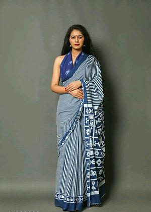 Trending Cotton Mulmul Sarees