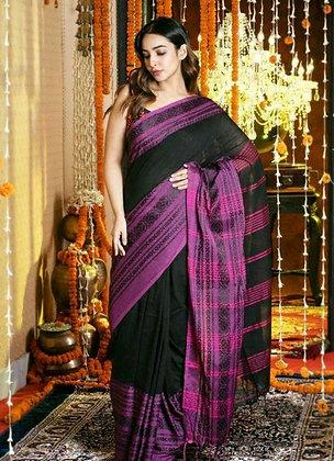 Designer Khadi Cotton Printed Saree
