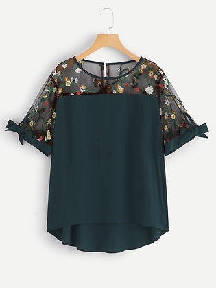 Firrozi Color Rayon Designer Embroidered Top For Girl's and Women's