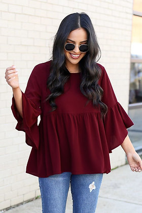 Maroon Color Rayon Top For Girl's and Women