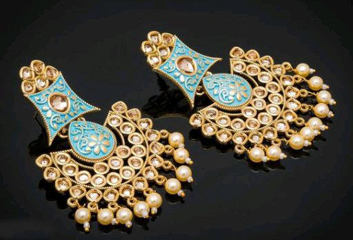 Femme Kundan Work Earrings