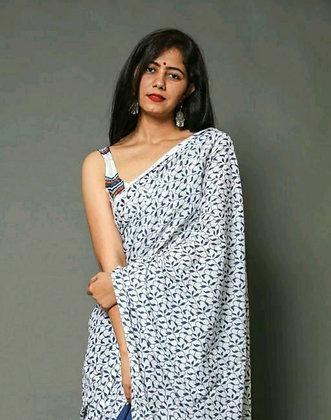 Latest Designer Cotton printed Sarees