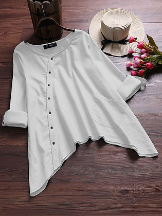 White Color Cotton Top Type Shirt For Girl's and Women