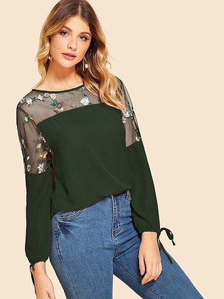 Green Color Zuric Micro T-shirt For Girl's and Women's
