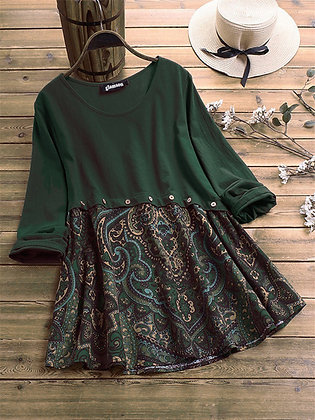 Green Color Rayon Designer Degital Printed Top For Girl's and Women's