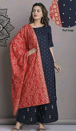 Trendy Rayon Double Layered Kurti Sets