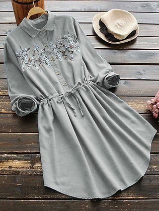 Latest Grey Color Rayon Designer Embroidered Top For Girl's and Women'