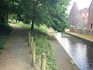Looking past the canal basin to Coalport China Museum and Coalport YHA