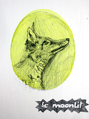 be moonlit, graphit on undercoated paper